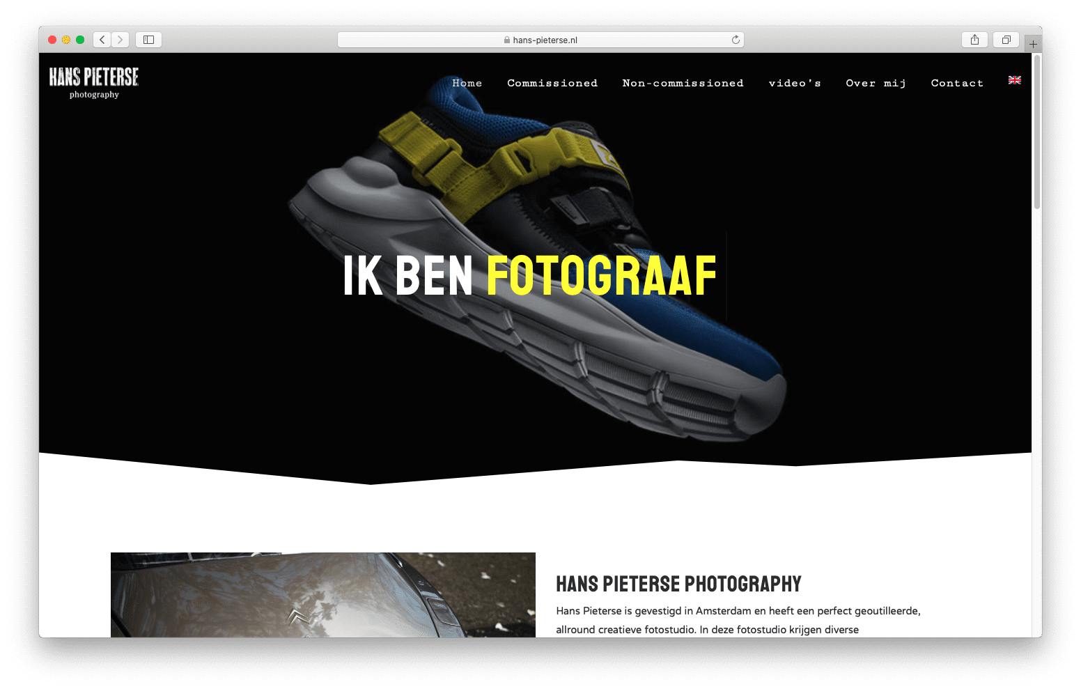 Fotografie website
